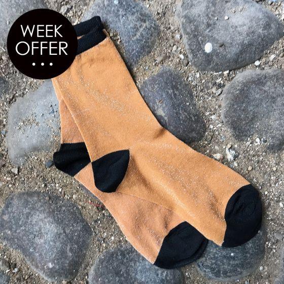 Gamila Glitter Socks Mango Mojito fra Vero Moda