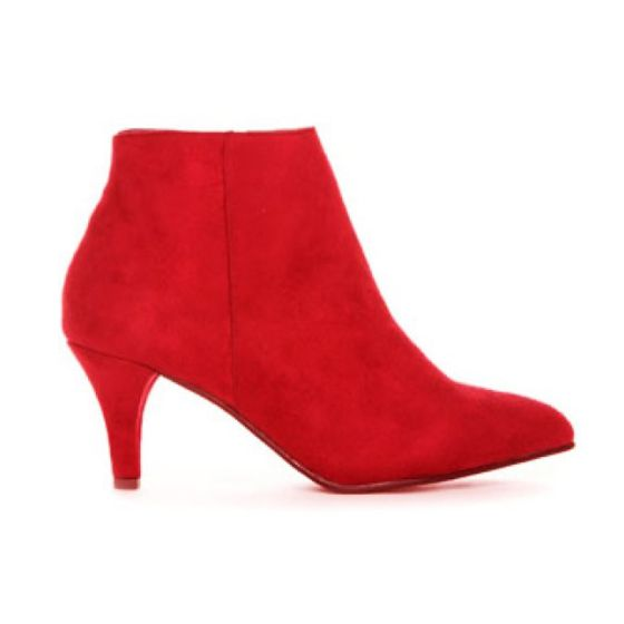 High Heel Ankle Boot Red fra Duffy