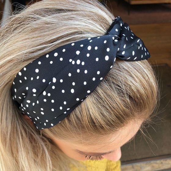 Headband Dots Black fra Black Colour